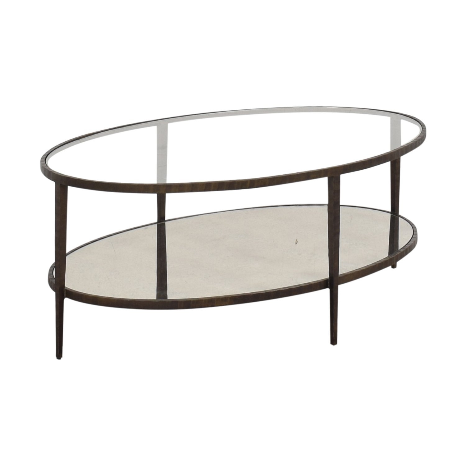 Clairemont Oval Coffee Table Crate & Barrel