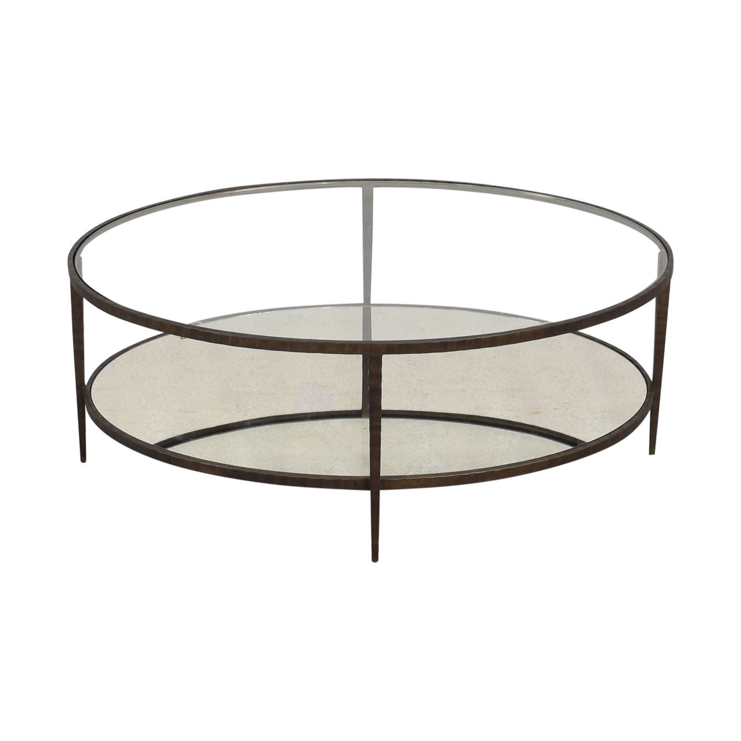Crate & Barrel Clairemont Oval Coffee Table