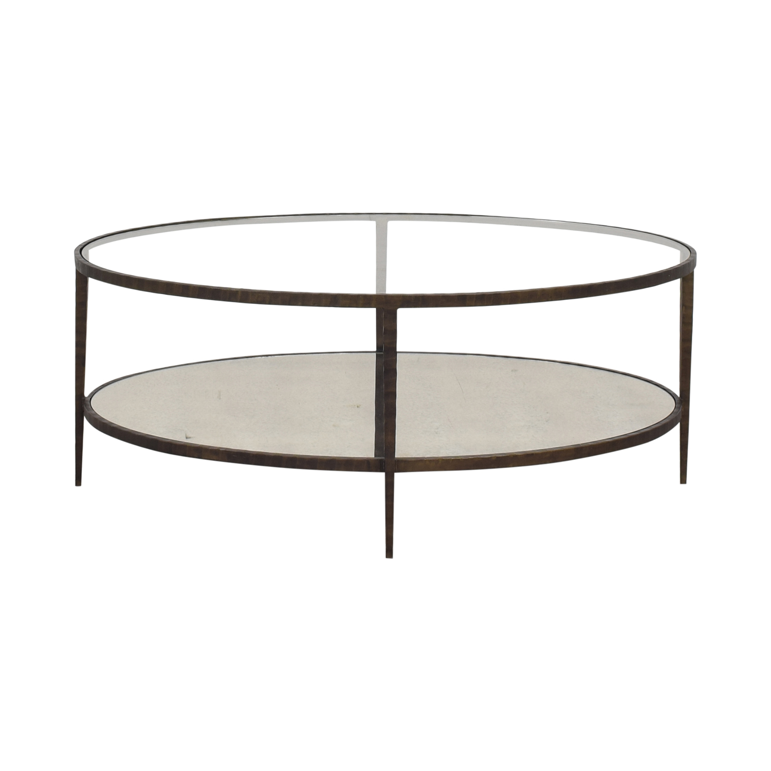 Crate & Barrel Clairemont Oval Coffee Table used