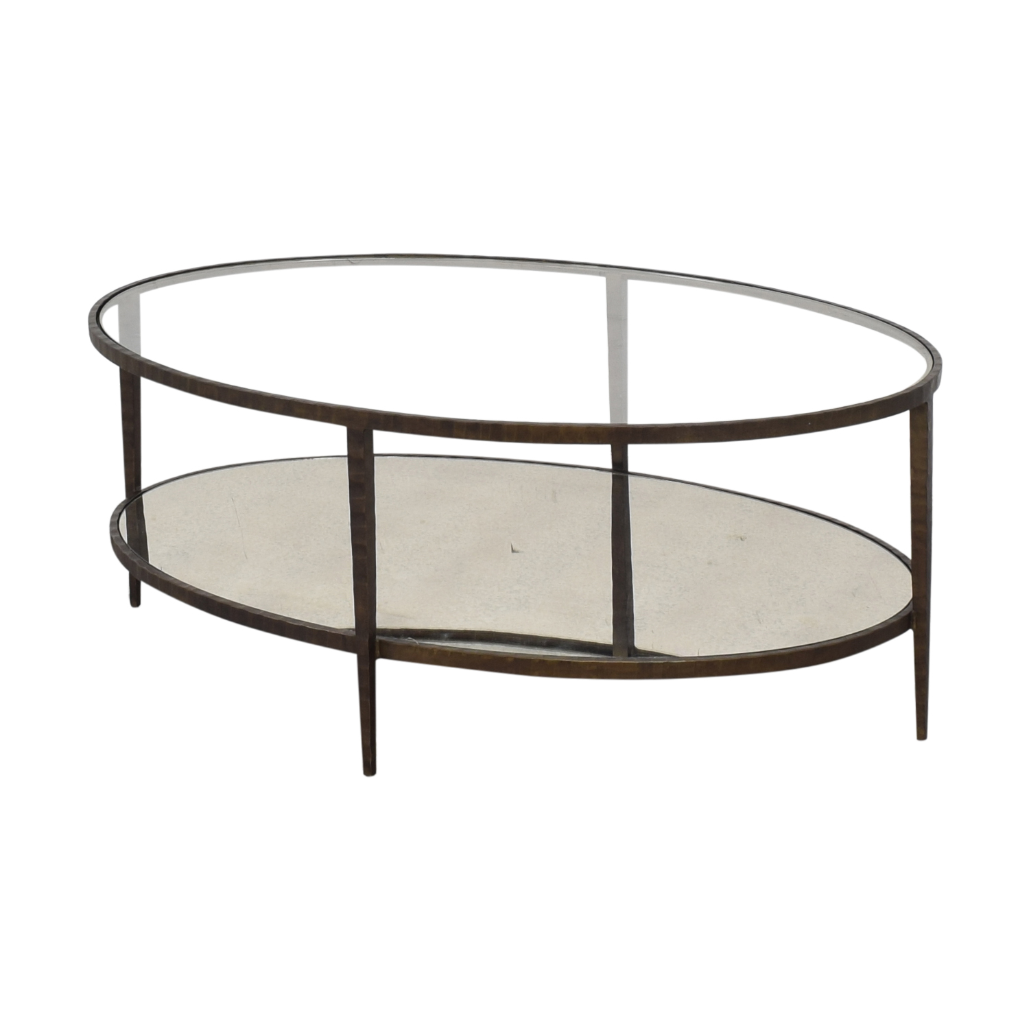 Crate & Barrel Clairemont Oval Coffee Table ct