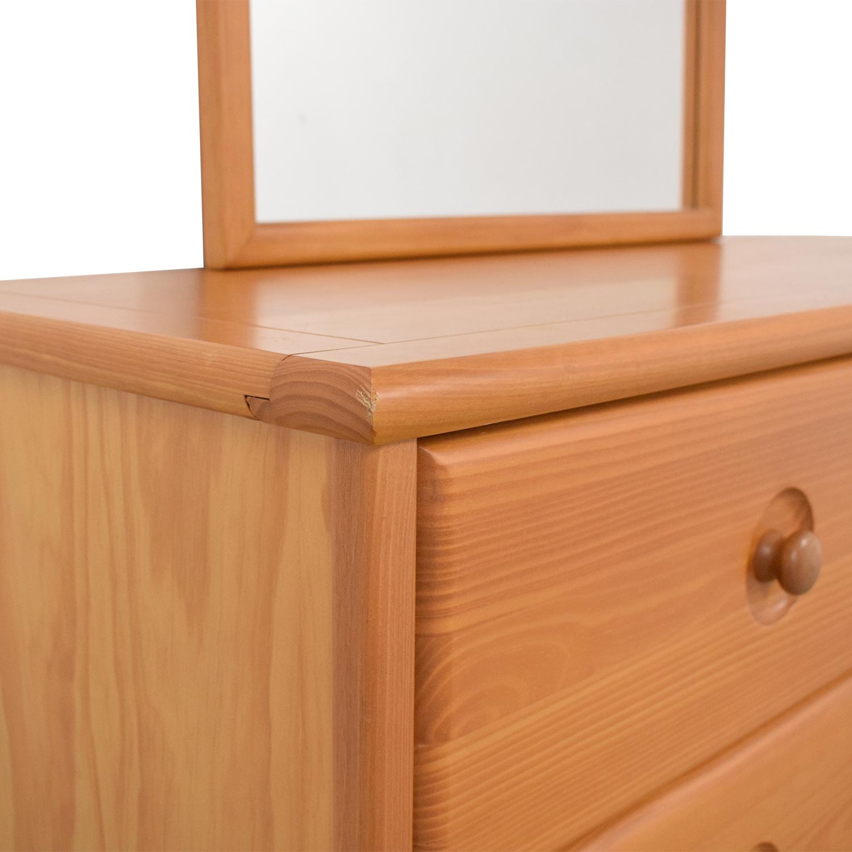 Six Drawer Dresser with Mirror / Dressers
