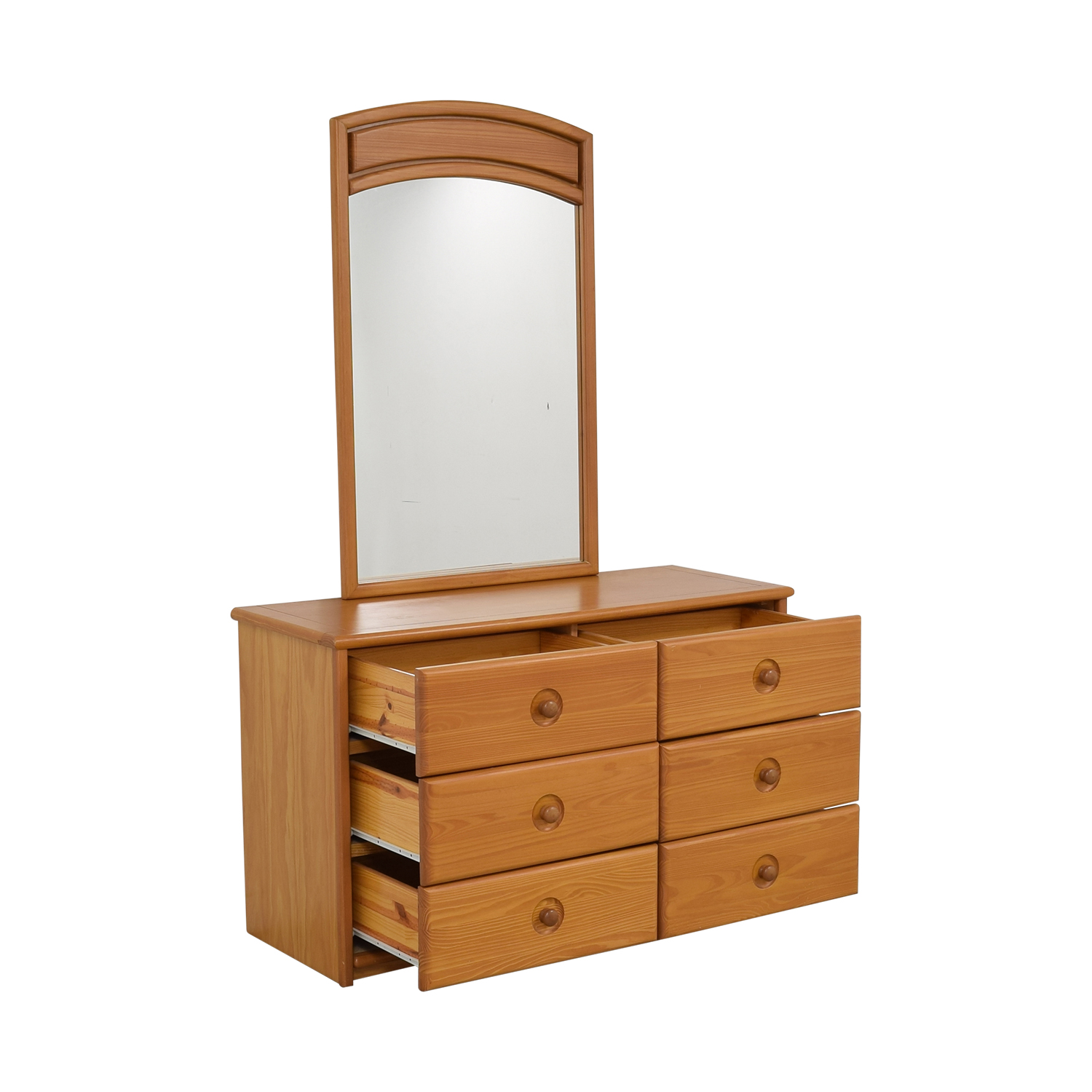 Six Drawer Dresser with Mirror coupon