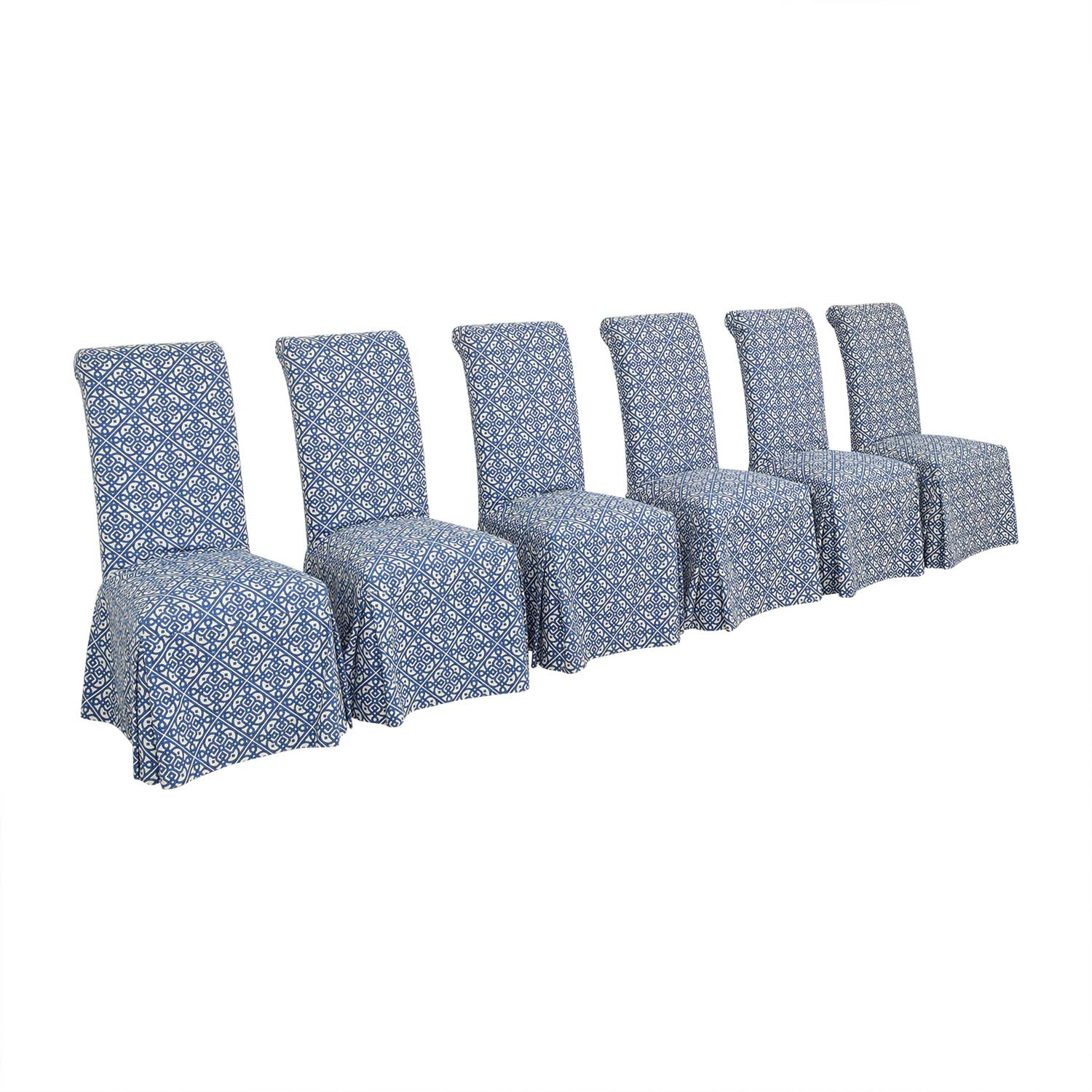 shop Parsons Custom Slipcovered Dining Chairs  Dining Chairs