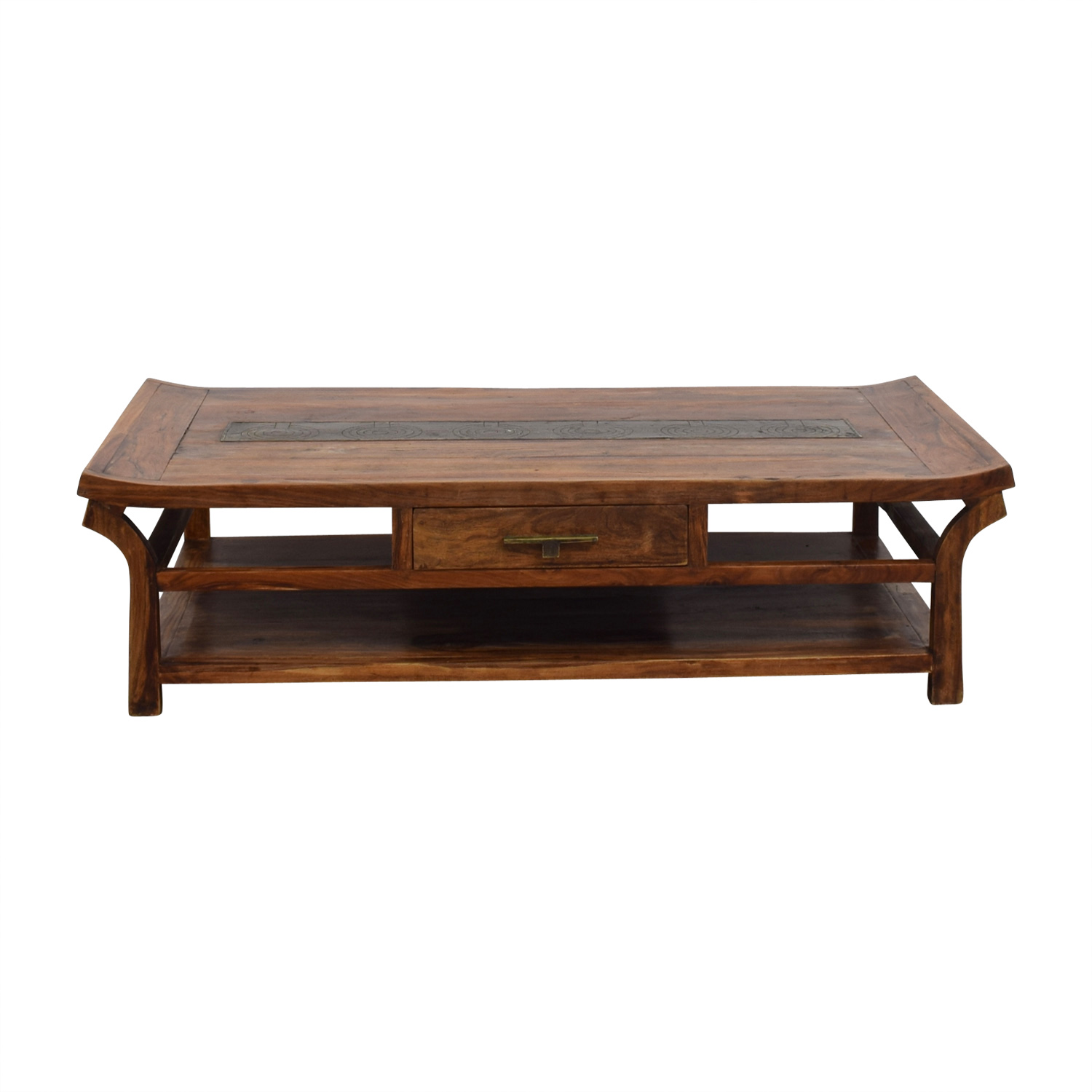 Natural Wood Coffee Table Brown