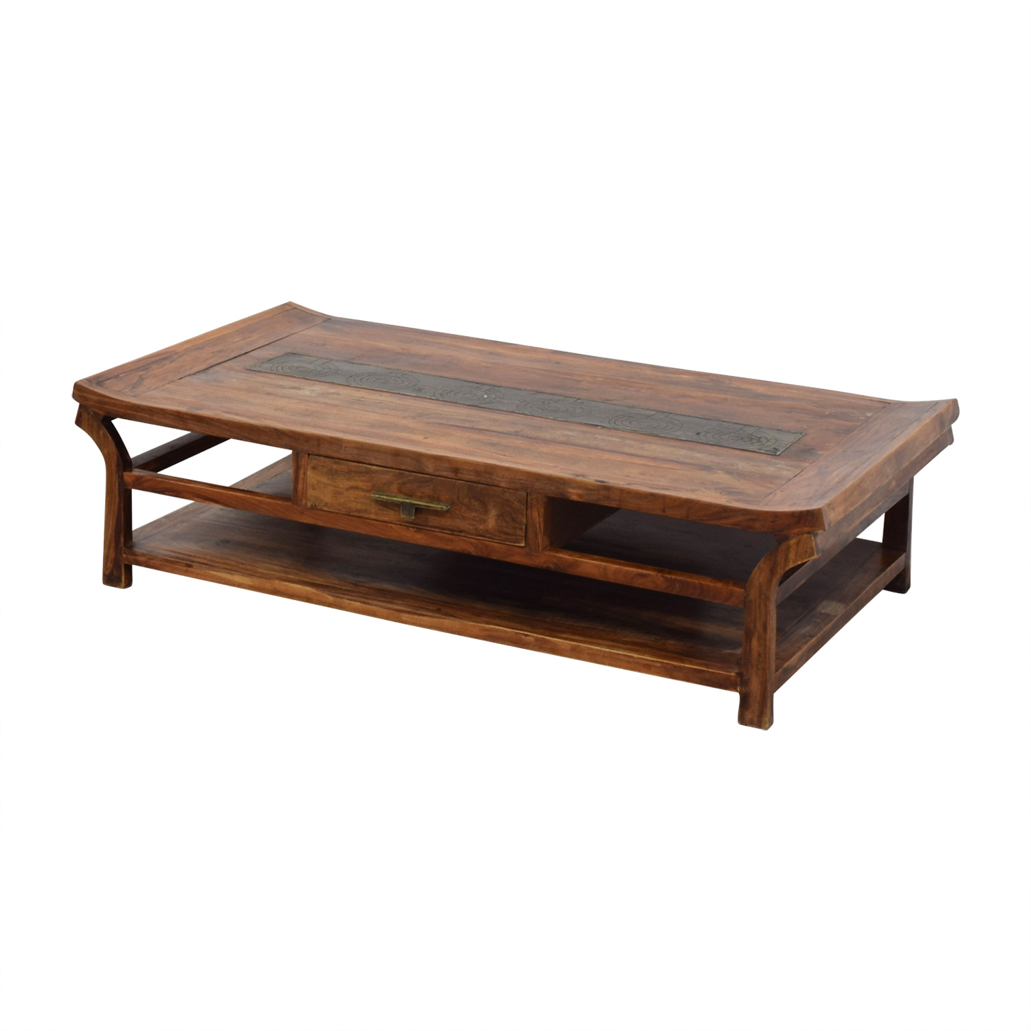 off  black laquer coffee table  tables - natural wood coffee table unknown brand