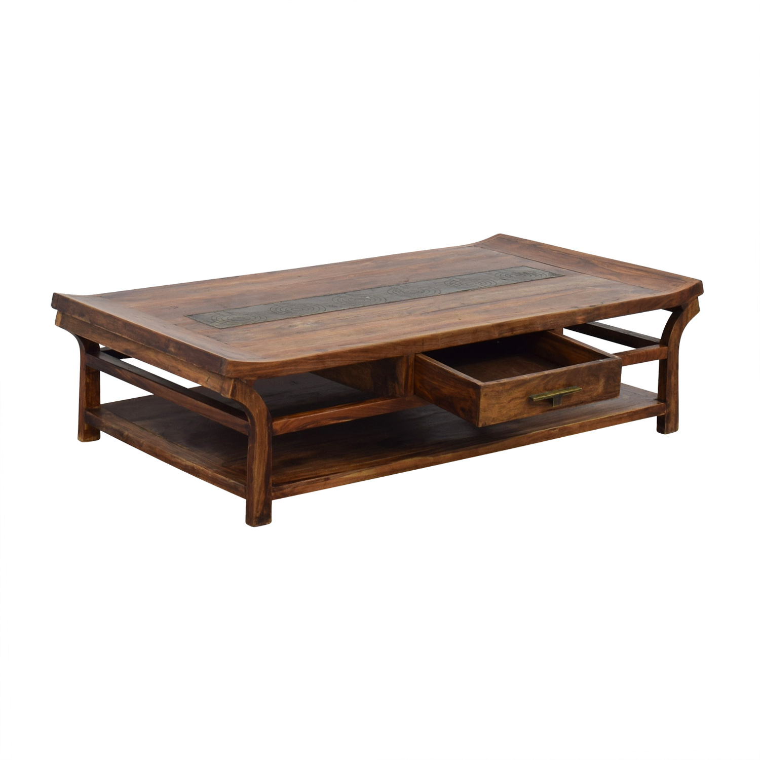90 Off Natural Wood Coffee Table Tables