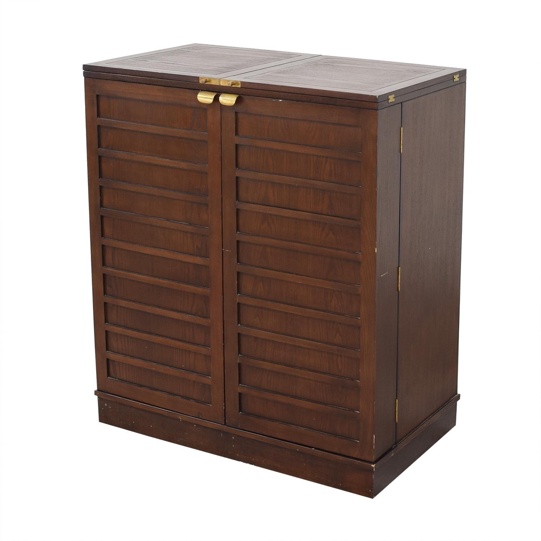 shop Crate & Barrel Bar Cabinet Crate & Barrel