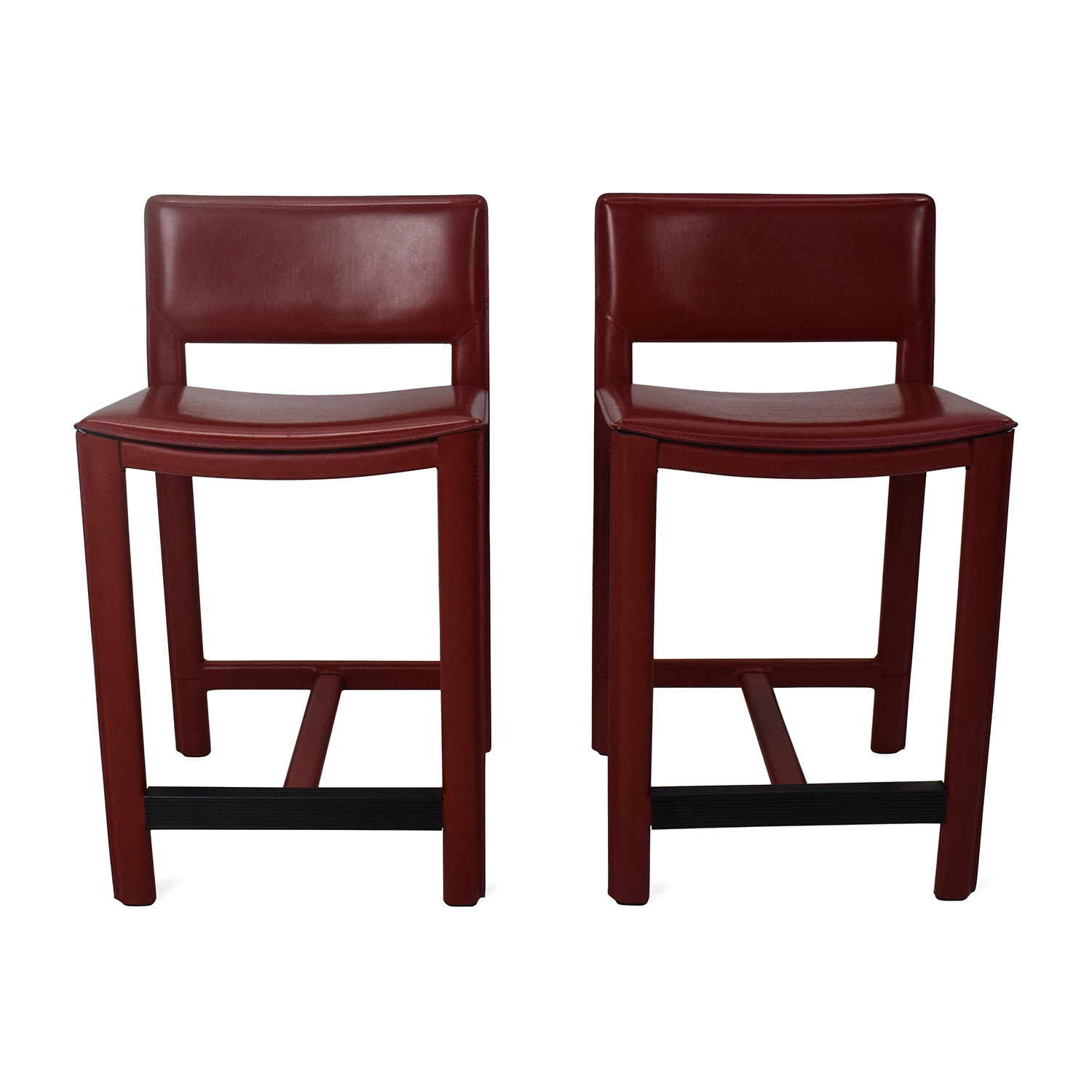shop Room and Board Room & Board Sava Leather Bar Stool Pair online