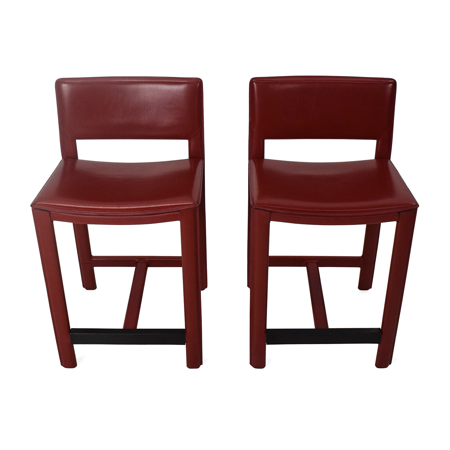 buy Room and Board Room & Board Sava Leather Bar Stool Pair online