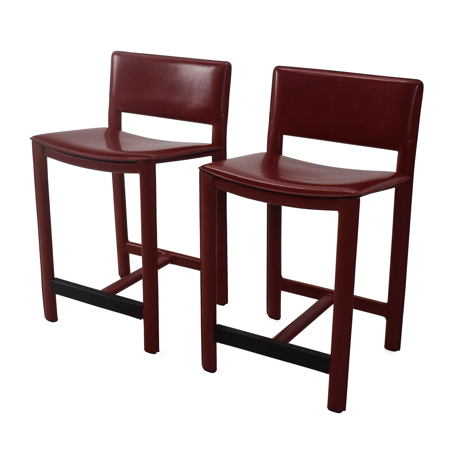 Room and Board Room Board Sava Leather Bar Stool Pair dimensions