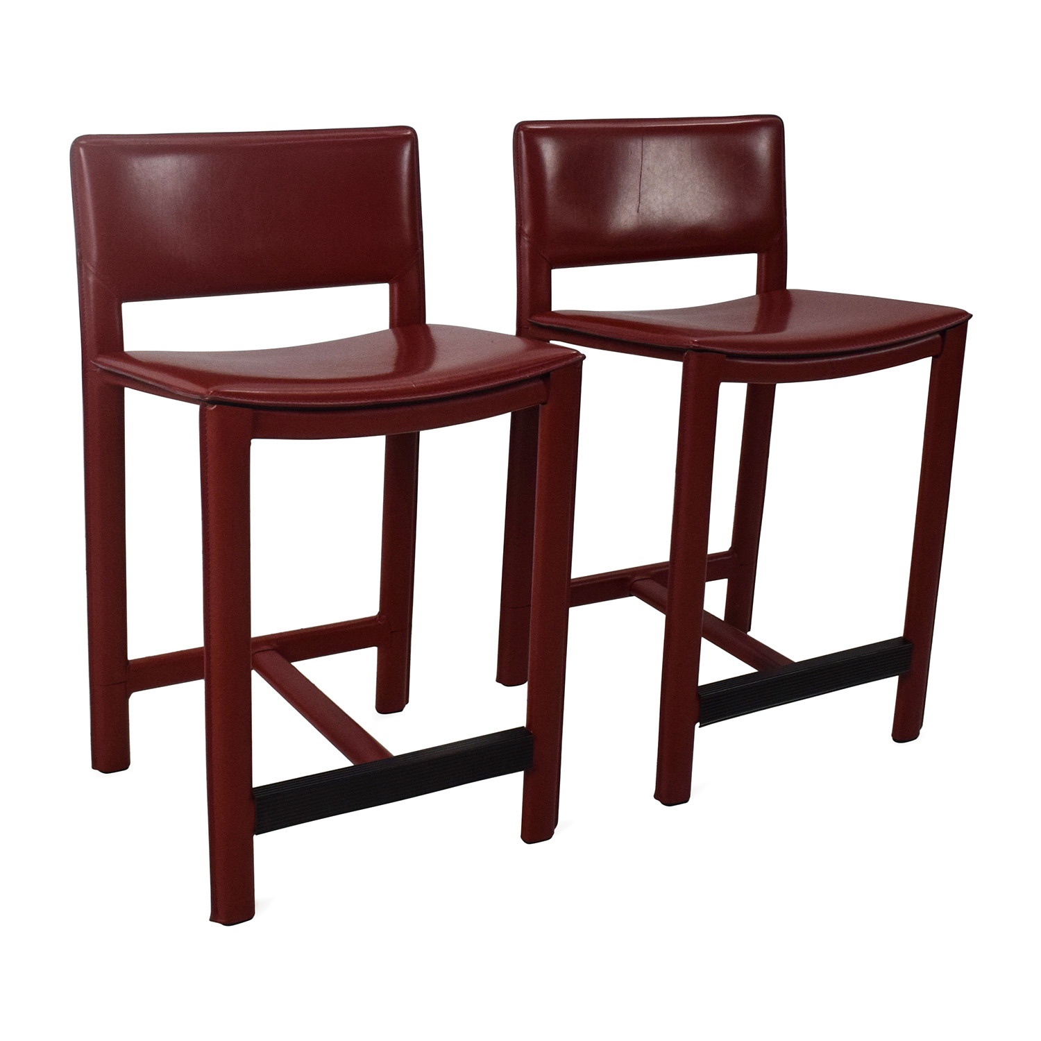 Room and Board Room Board Sava Leather Bar Stool Pair