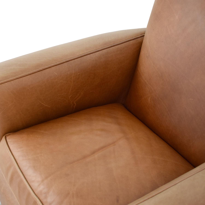 shop Crate & Barrel Reclining Club Chair Crate & Barrel Chairs