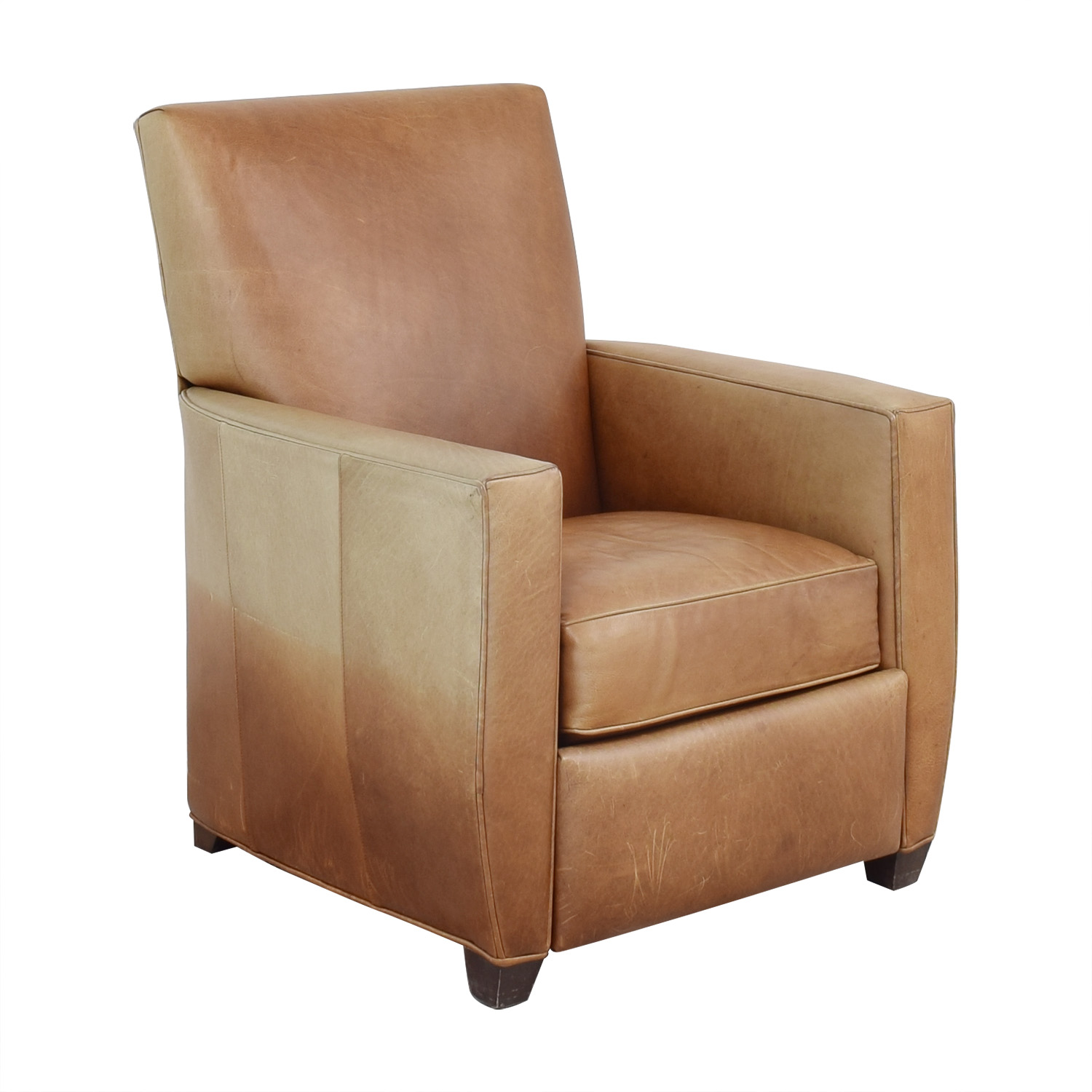 Crate & Barrel Reclining Club Chair / Chairs