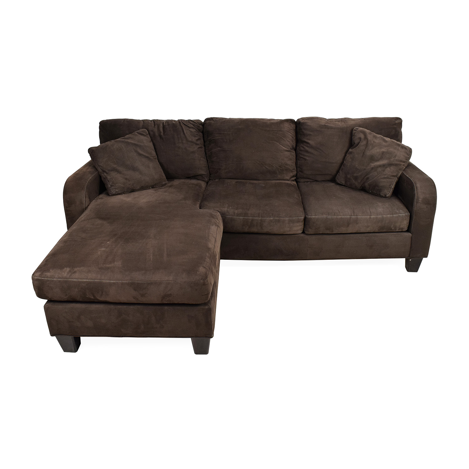 Microfiber chaise sofa microfiber sofa chaise lounge for Gray microfiber sectional sofa with chaise
