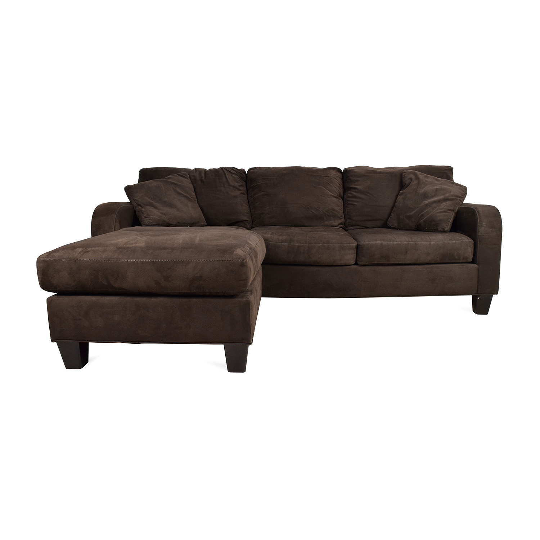 Cindy Crawford Bailey Microfiber Chaise Sofa Home