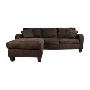 Cindy Crawford Home Cindy Crawford Bailey Microfiber Chaise Sofa used