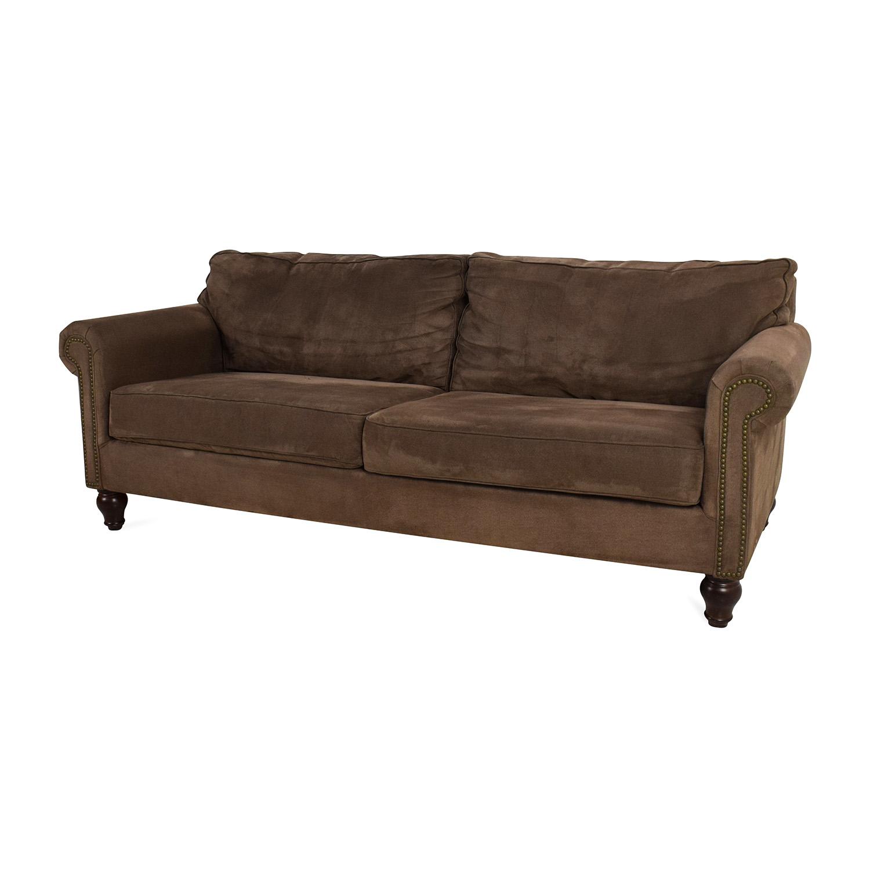 Pier 1 Alton Ecru Rolled Arm Sofa