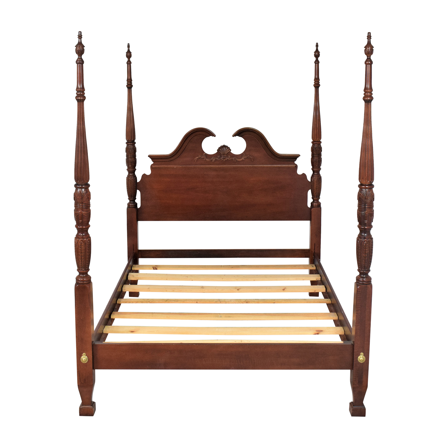 Queen Anne Style Poster Bed