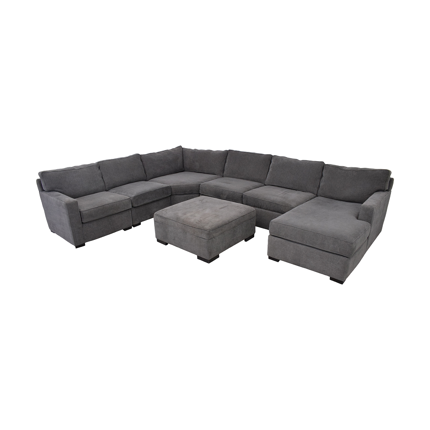 Macy's Macy's Radley Fabric 6-Piece Chaise Sectional Sofa with Corner Piece and Ottoman used