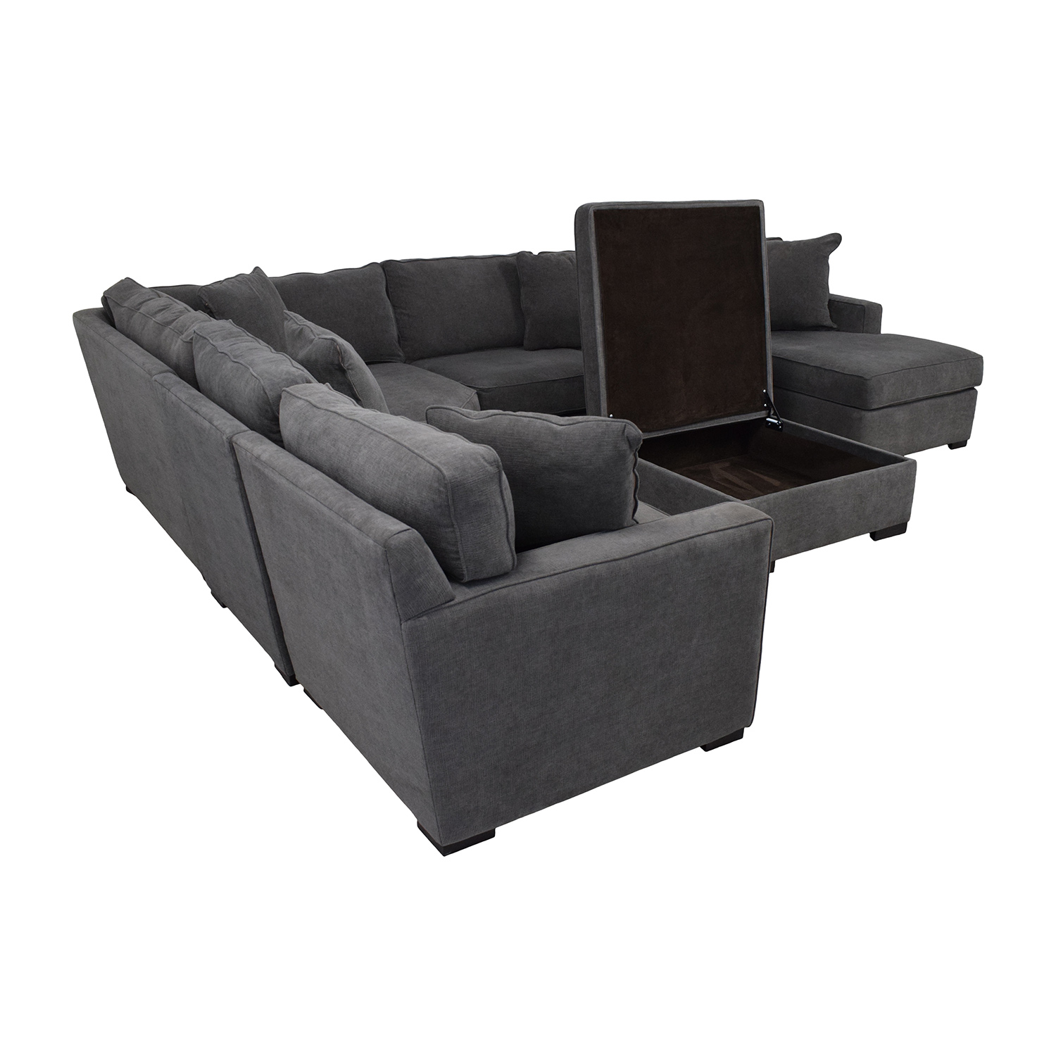 Macy's Macy's Radley Fabric 6-Piece Chaise Sectional Sofa with Corner Piece and Ottoman nyc