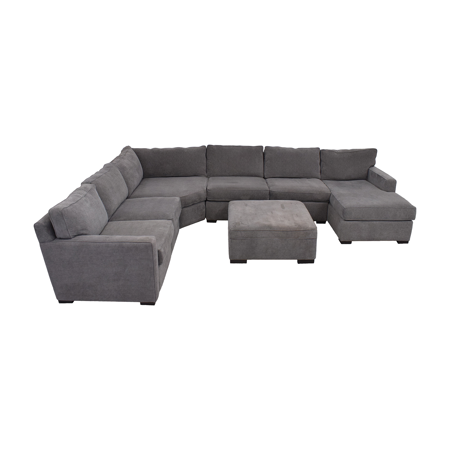 Macy's Radley Fabric 6-Piece Chaise Sectional Sofa with Corner Piece and Ottoman Macy's