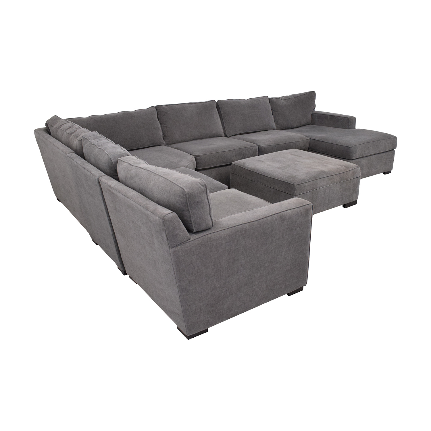 shop Macy's Radley Fabric 6-Piece Chaise Sectional Sofa with Corner Piece and Ottoman Macy's Sectionals