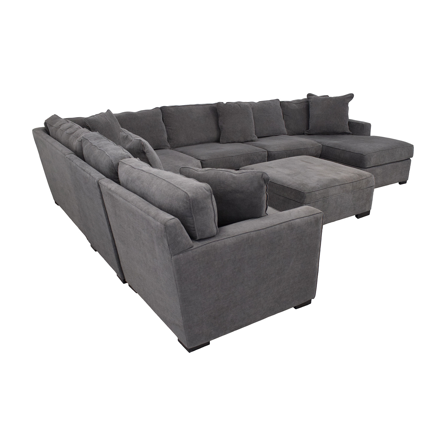 Macy's Macy's Radley Fabric 6-Piece Chaise Sectional Sofa with Corner Piece and Ottoman