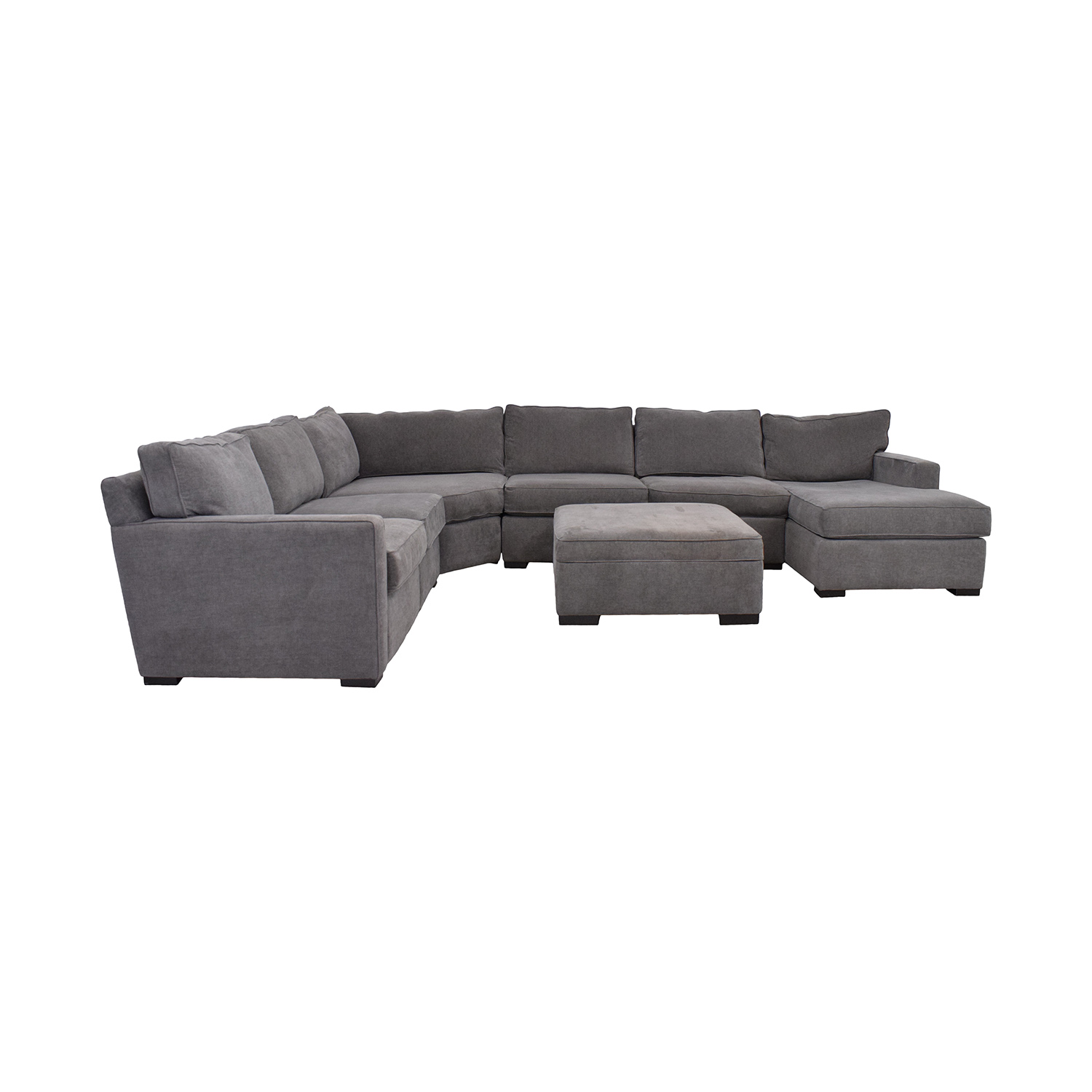 Macy's Macy's Radley Fabric 6-Piece Chaise Sectional Sofa with Corner Piece and Ottoman Sofas