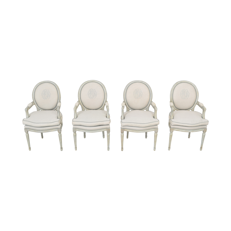 Nancy Corzine Louis XVI Arm Chairs sale