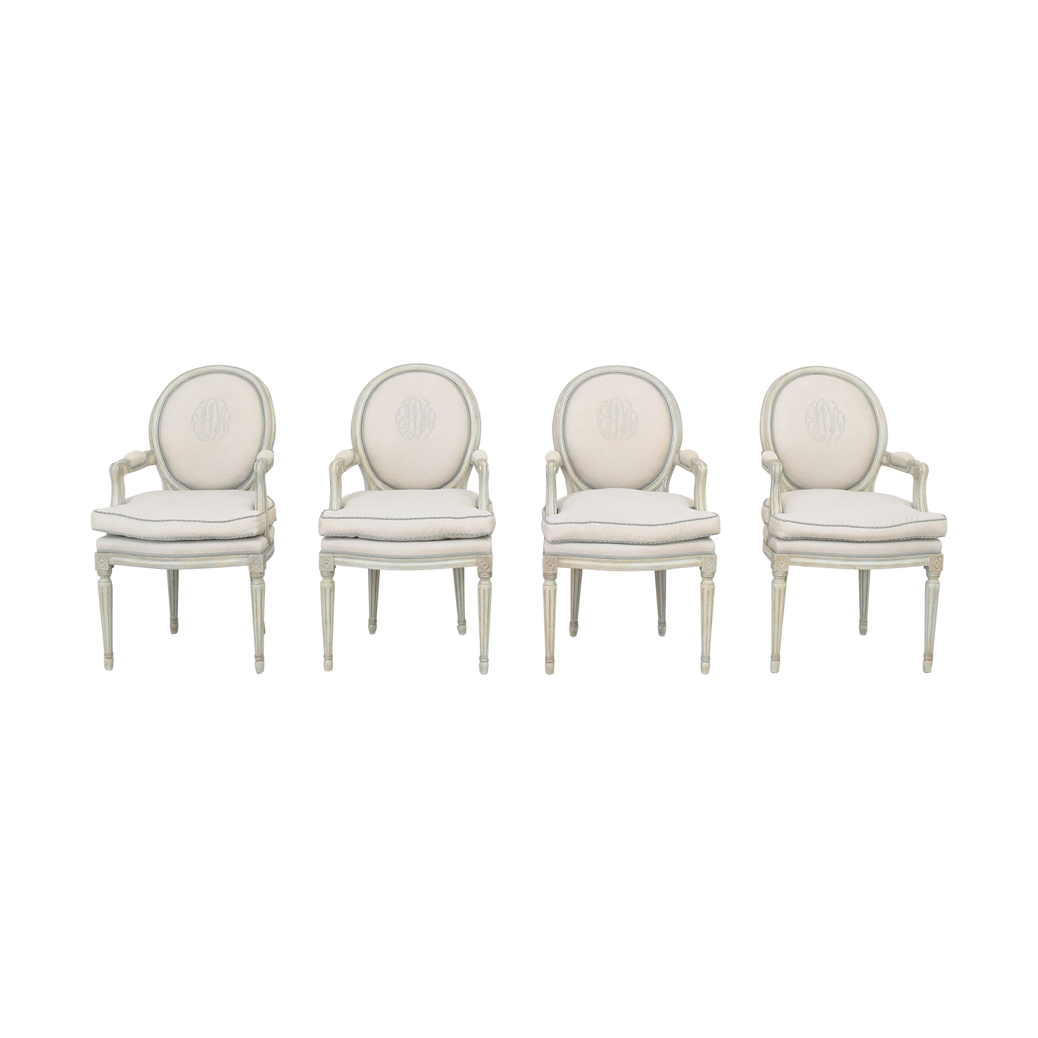 Nancy Corzine Louis XVI Arm Chairs sale