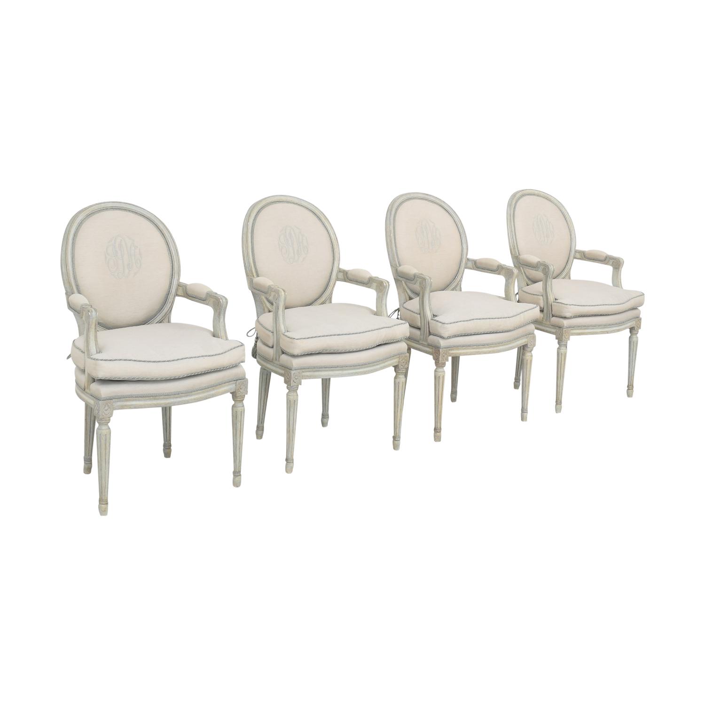 Nancy Corzine Nancy Corzine Louis XVI Arm Chairs
