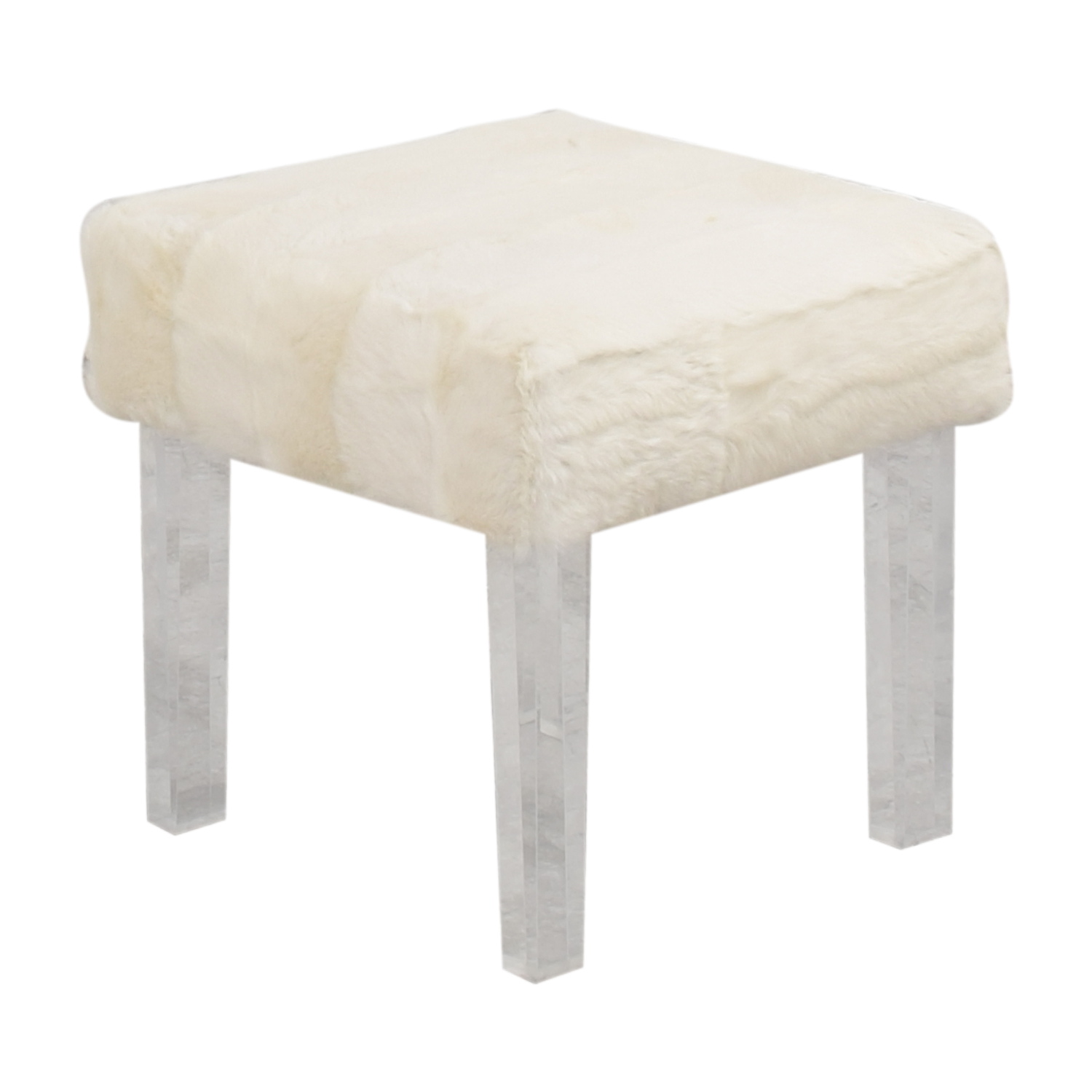 Outpost Original Lucite Bench with Fur / Stools
