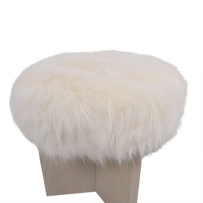 Baker Furniture Kara Mann for Milling Road Shorty Stool used