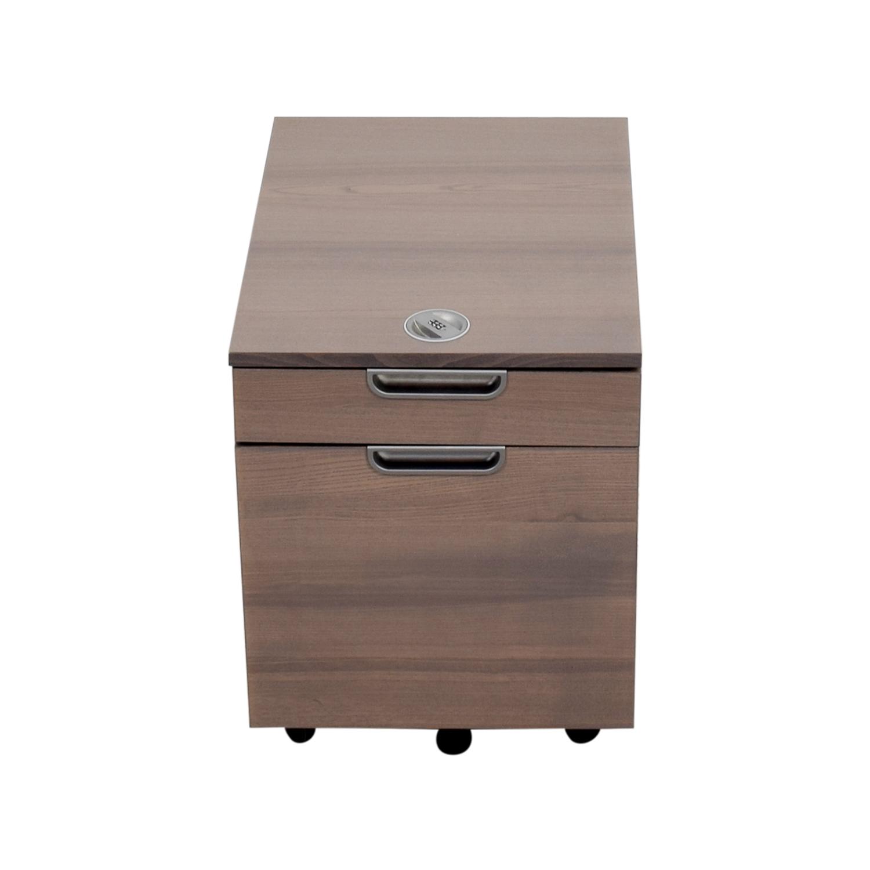 64 Off Ikea Ikea Galant Grey File Cabinet With Combination Lock