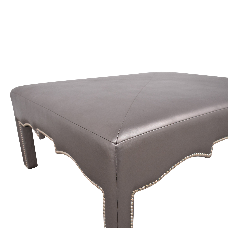 Upholstered Nailhead Ottoman nj