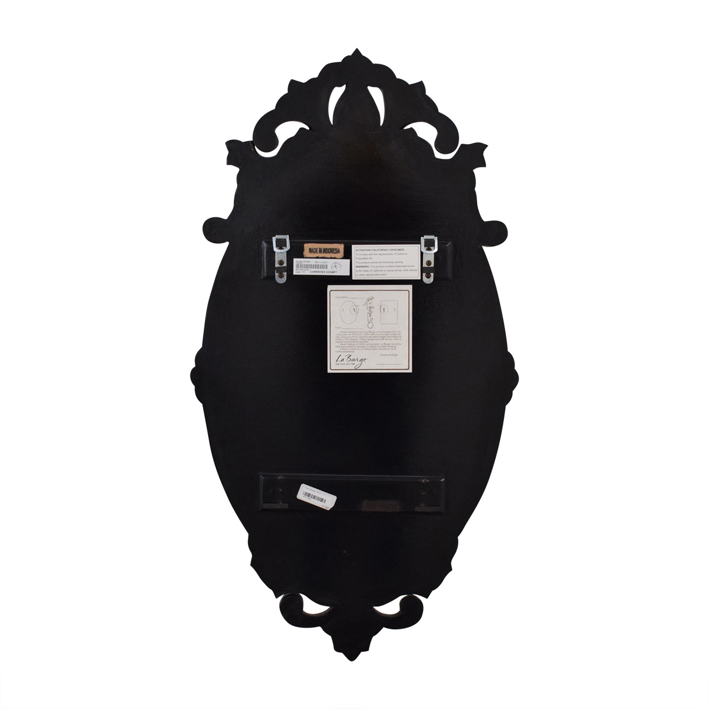 La Barge LaBarge Oval Venetian Mirror black