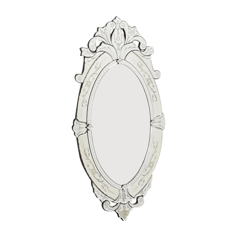 La Barge LaBarge Oval Venetian Mirror nyc