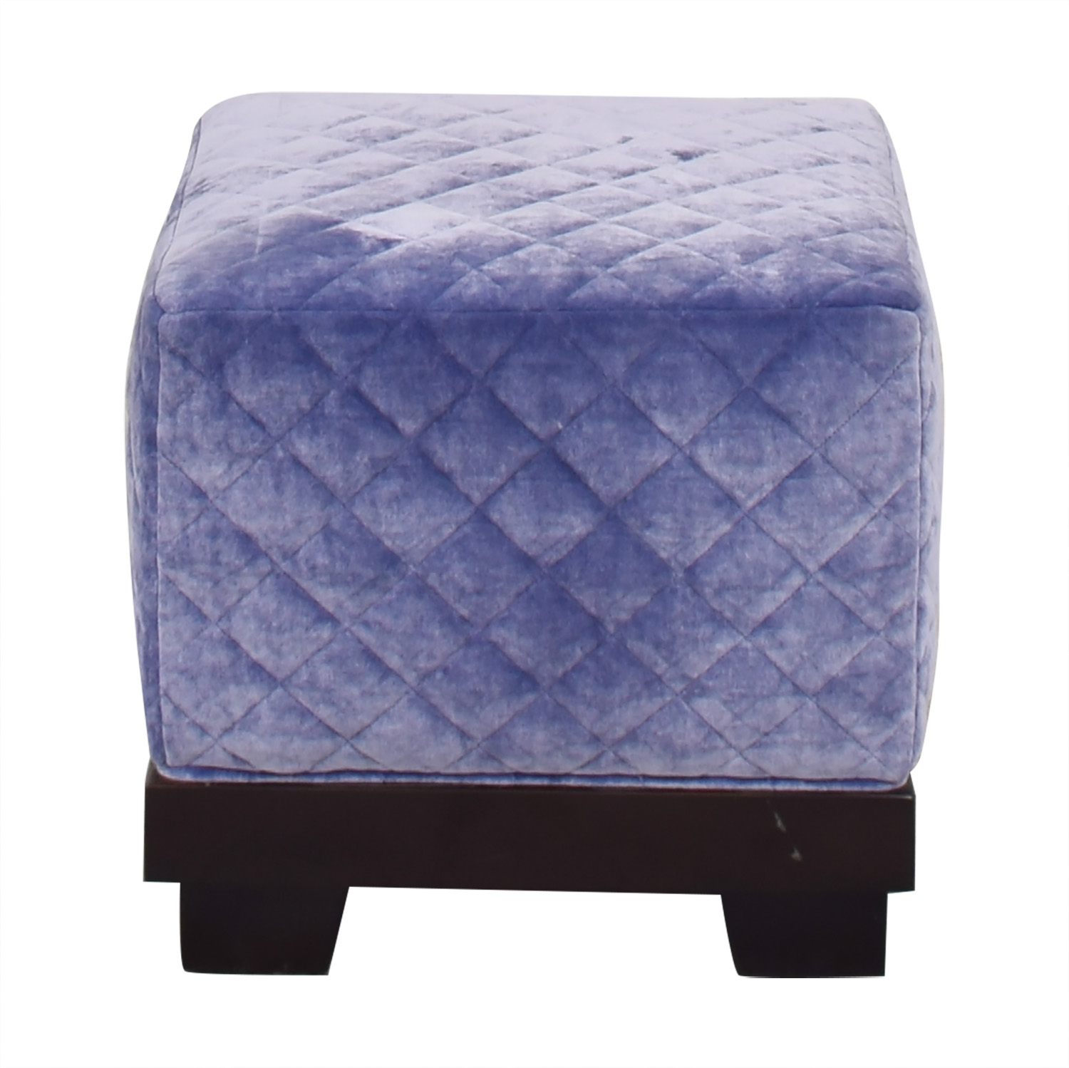 Quilted Cube Ottoman nj