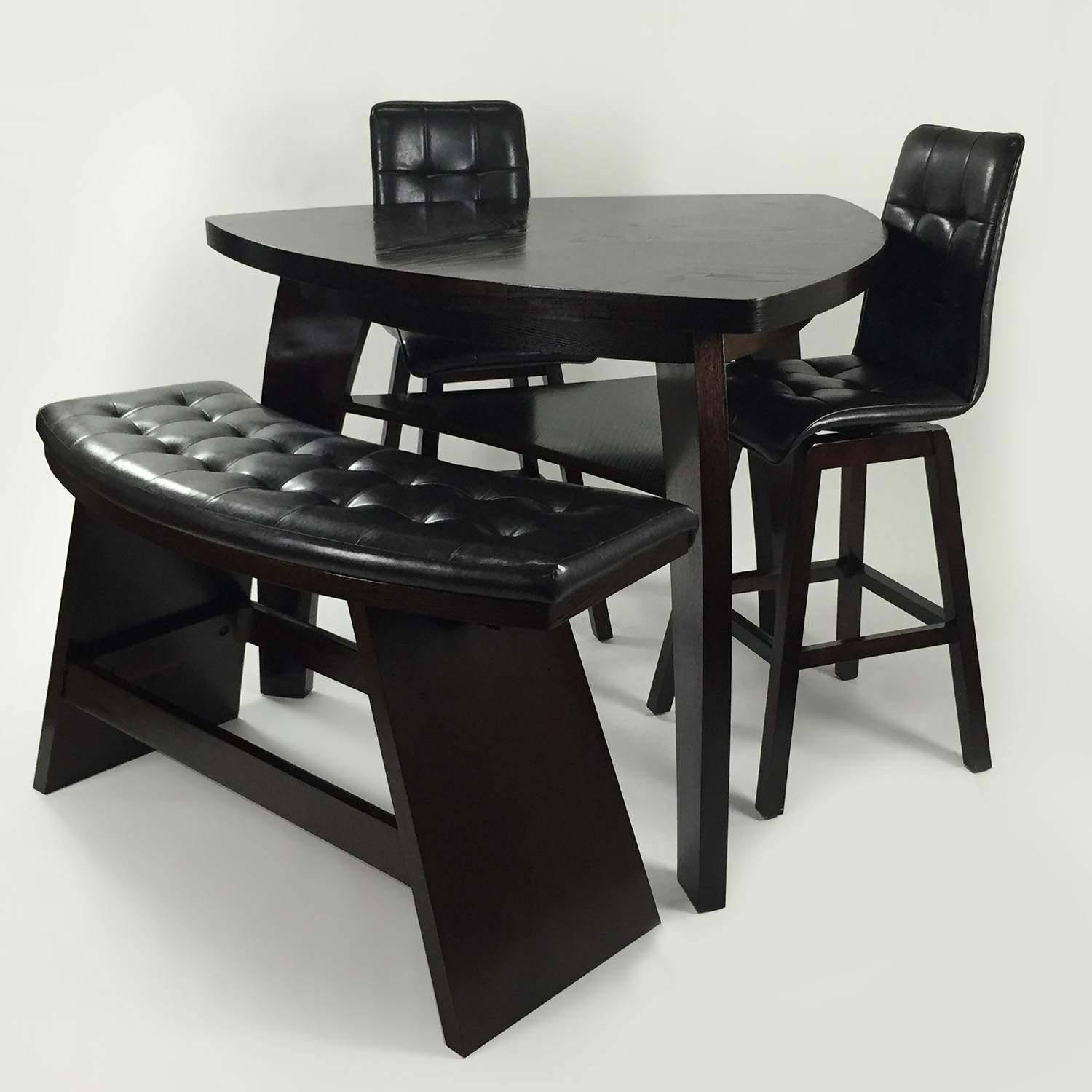 49% OFF Bob s Furniture Boomerang 4 Piece Bar Stool & Bench Set