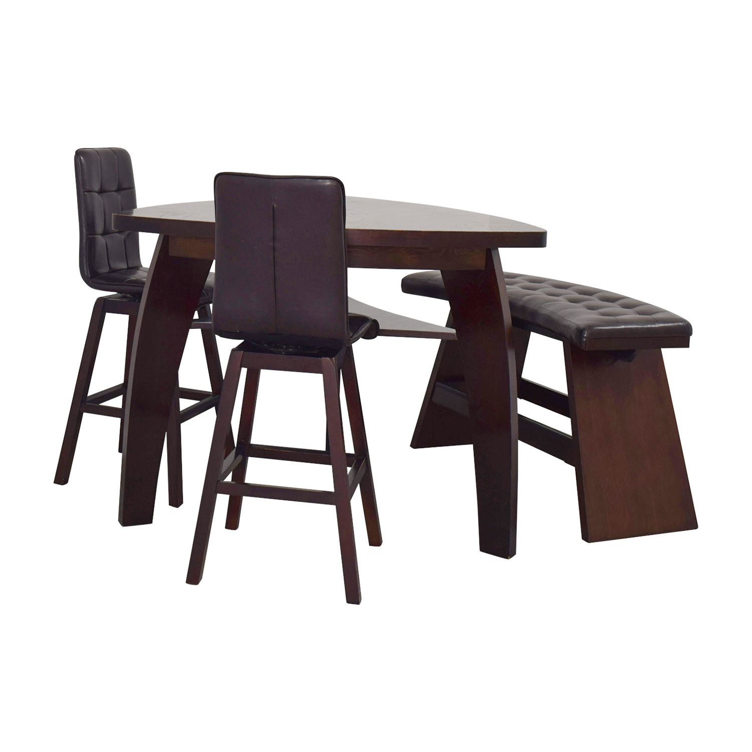 Awe Inspiring 76 Off Bobs Discount Furniture Bobs Furniture Boomerang Bar Stool And Bench Set Tables Home Interior And Landscaping Ponolsignezvosmurscom