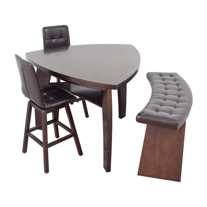 76% OFF - Bob\'s Discount Furniture Bob\'s Furniture Boomerang Bar Stool and  Bench Set / Tables