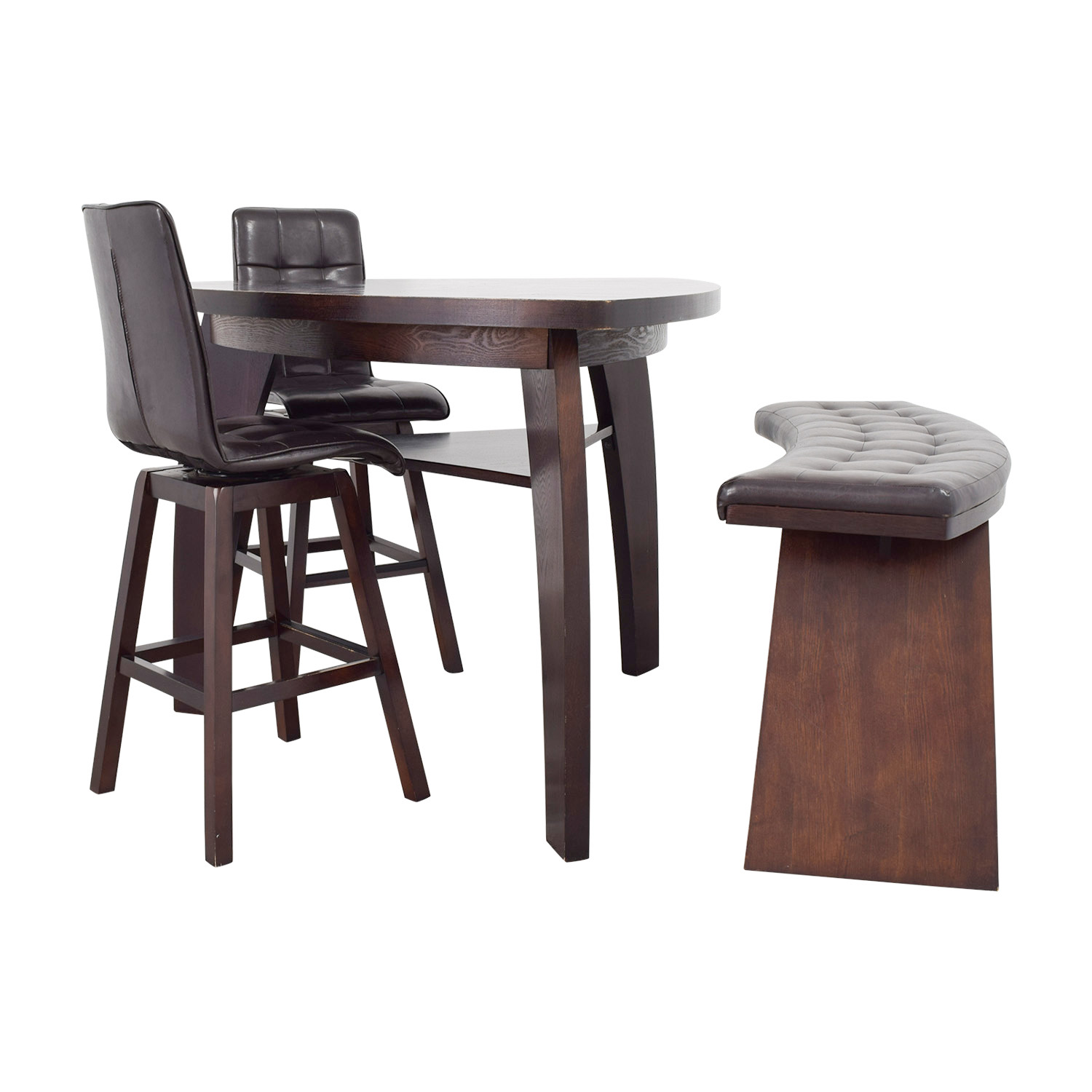 76 Off Bob 39 S Furniture Bob 39 S Furniture Boomerang Bar Stool And Bench Set Tables