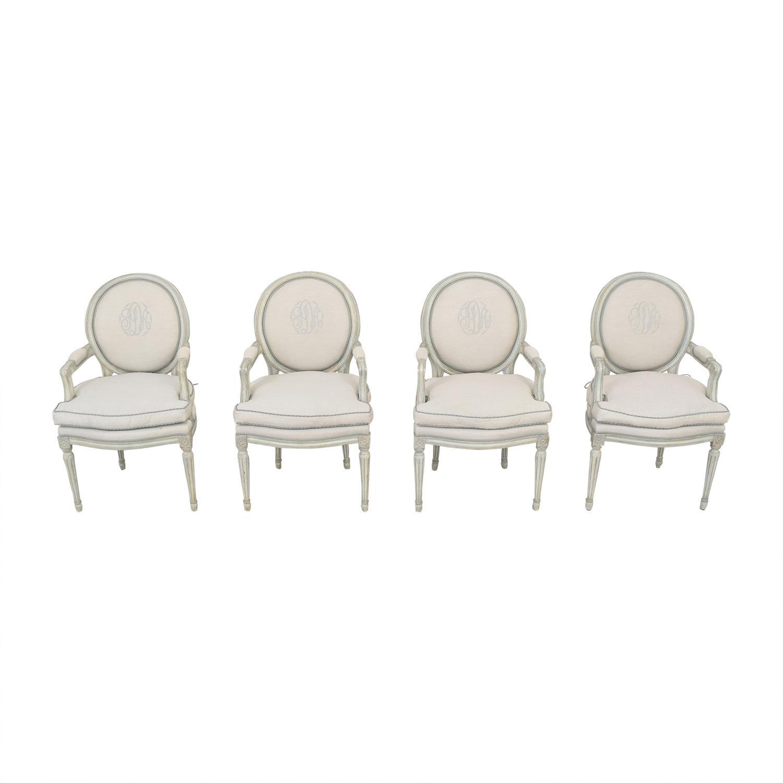 Nancy Corzine Nancy Corzine Louis XVI Arm Chairs on sale