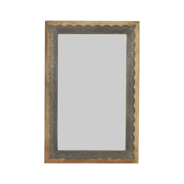 shop World Market Scalloped Inlay Kali Mirror Cost Plus World Market Mirrors