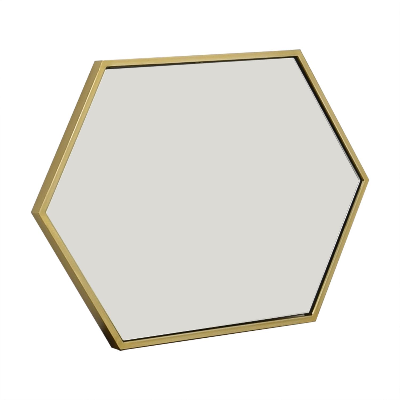 buy West Elm Metal Framed Hexagon Mirror West Elm Decor