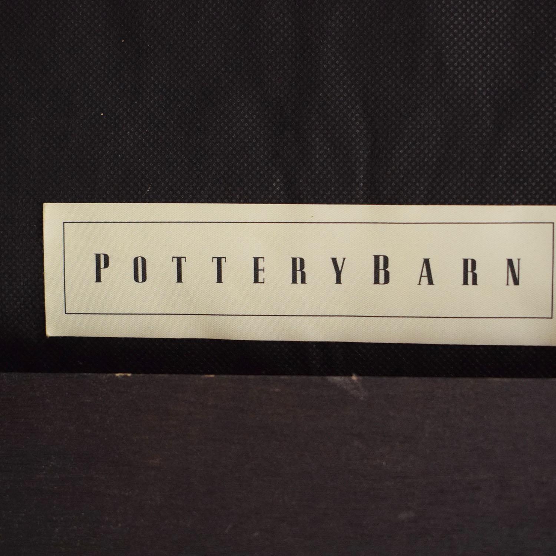 Pottery Barn Tufted Leather Ottoman Pottery Barn