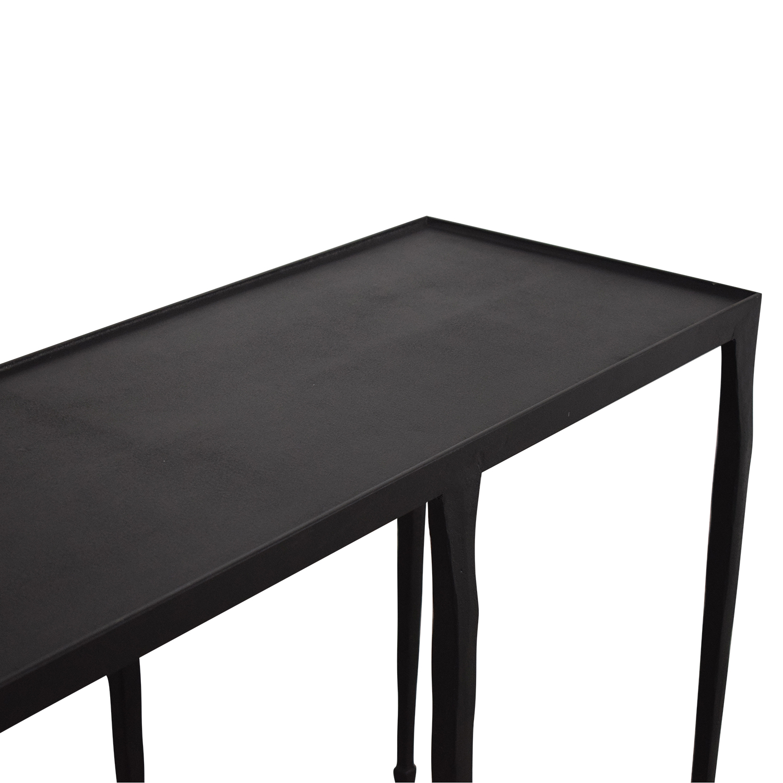 Crate & Barrel Silviano Iron Console Table / Tables