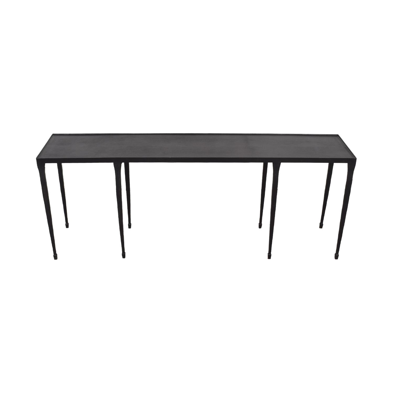 Crate & Barrel Crate & Barrel Silviano Iron Console Table price
