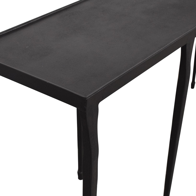 Crate & Barrel Crate & Barrel Silviano Iron Console Table black