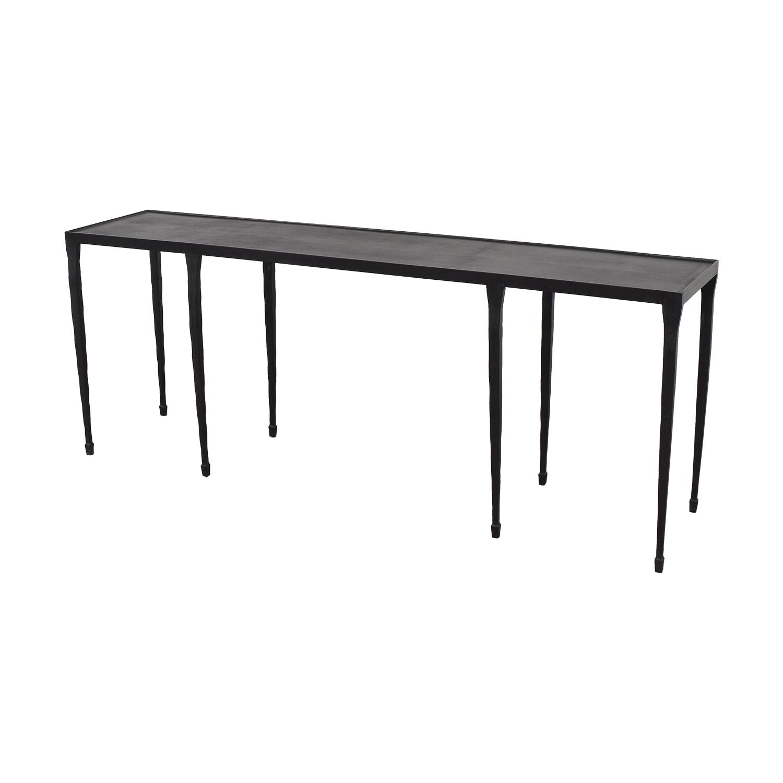 Crate & Barrel Silviano Iron Console Table sale